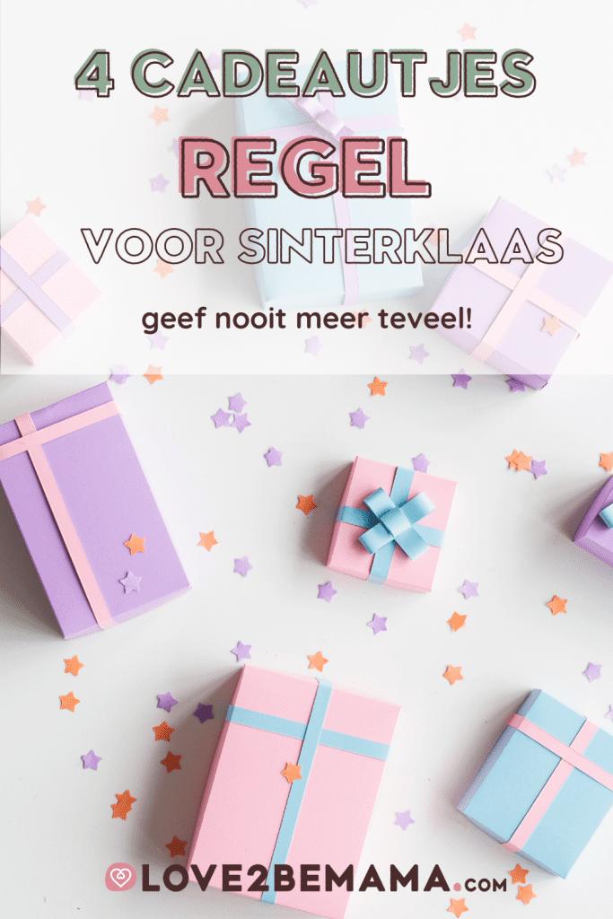 4 cadeautjes regel voor Sinterklaas