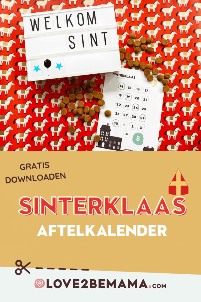 Gratis aftelkalender Sinterklaas 2020 downloaden