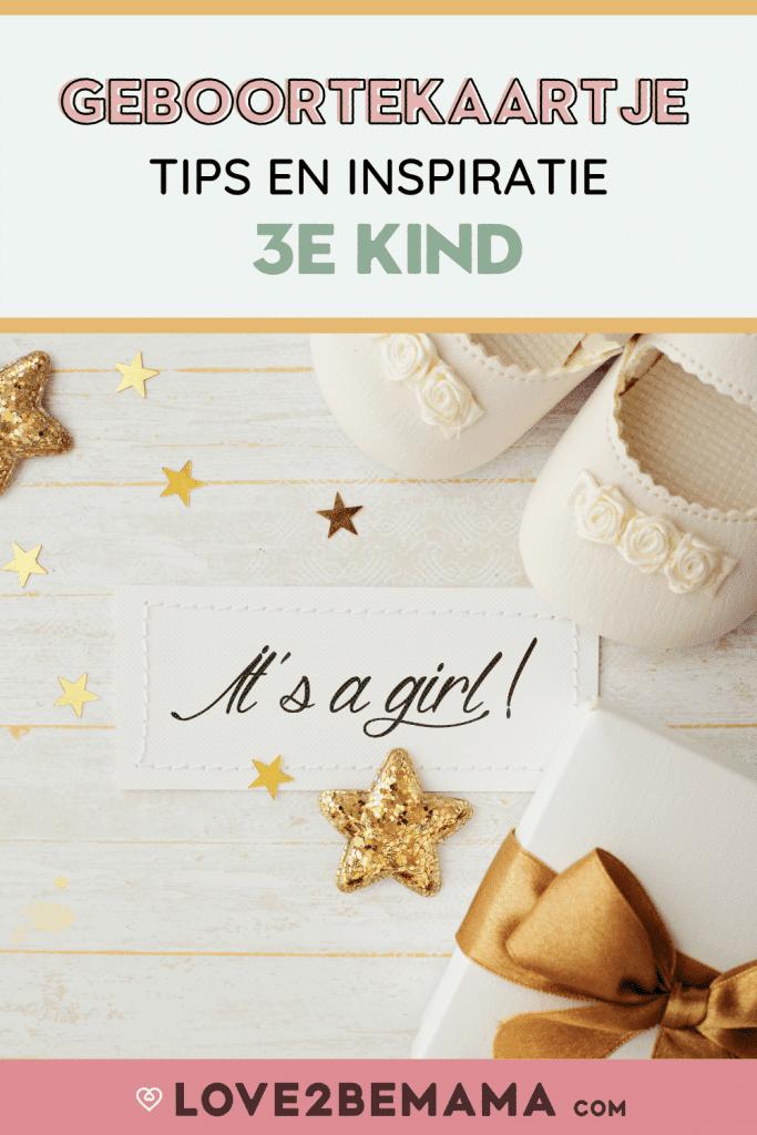 Geboortekaartje derde kind. Wat zet je erop? Tips en inspiratie!