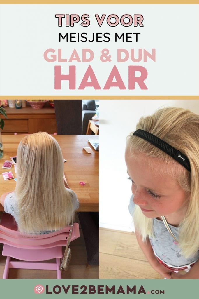 Tips voor meisjes met glad en dun haar.