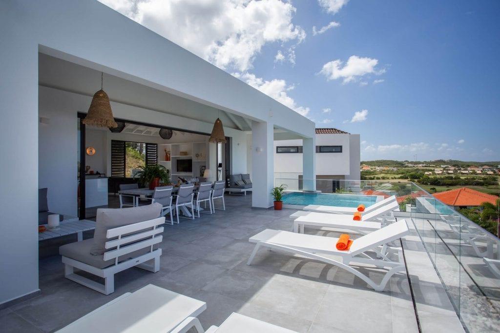 Wonen op Curacao Villa Casa di Bario terras