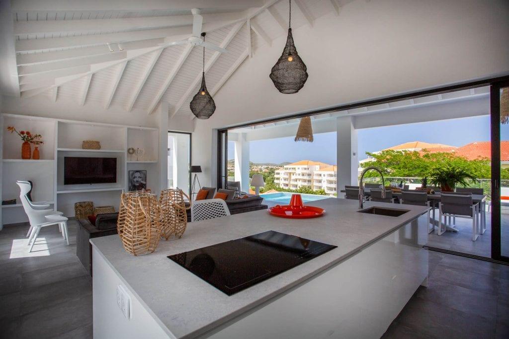 Wonen op Curacao Villa Casa di Bario buitenkeuken