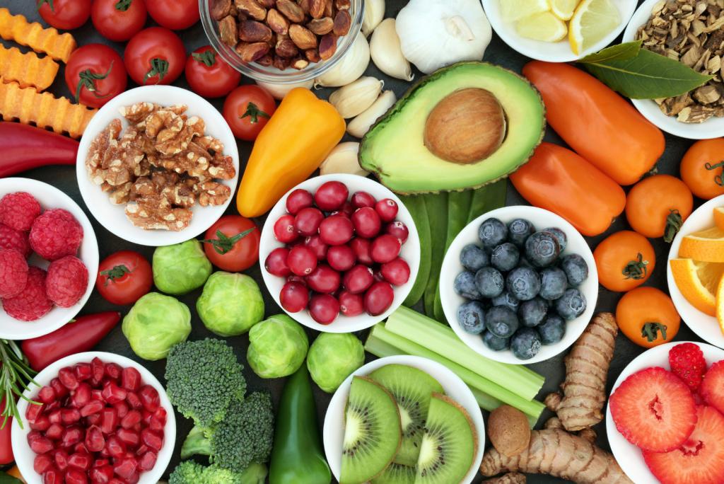 Producten met eiwitten en gezonde vetten