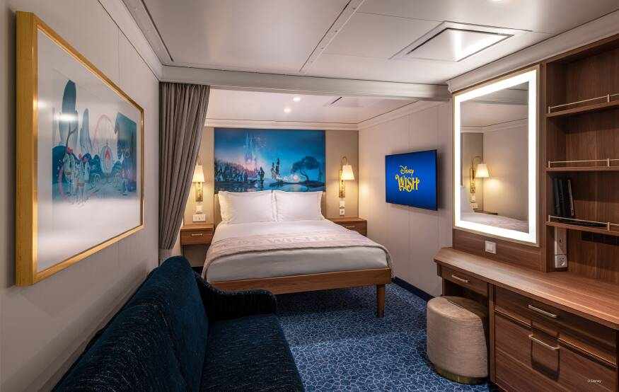 Disney Wish Cruise: kamers